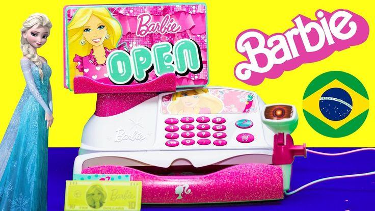 Barbie App-Rific Cash Register Checkout Toy, Caixa Registradora Fashion Store da Barbie. Fazer compras nunca foi tão divertido com essa linda caixa registrad...