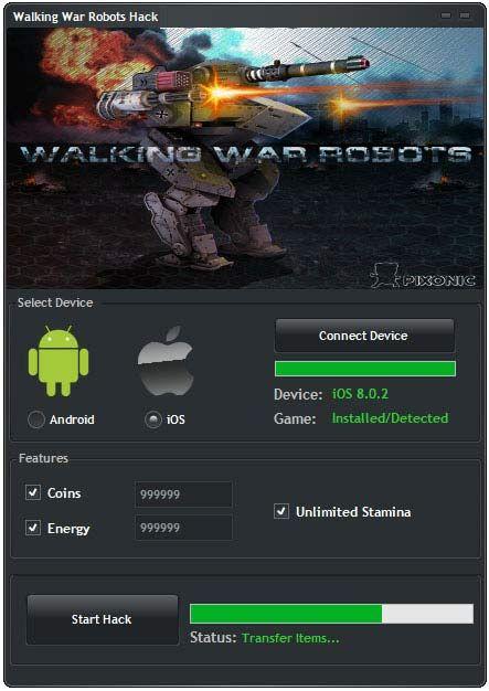Читы для walking war robots