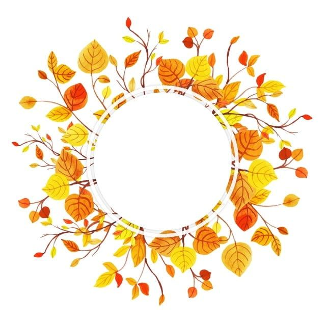 Beautiful Watercolor Autumn Leaves Frame Watercolor Paint Frame Png And Vector With Transparent Background For Free Download Watercolor Autumn Leaves Fall Clip Art Flower Art