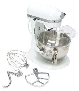 KitchenAid KP26M1XMR Professional 600 Series 6-Quart Stand Mixer, White