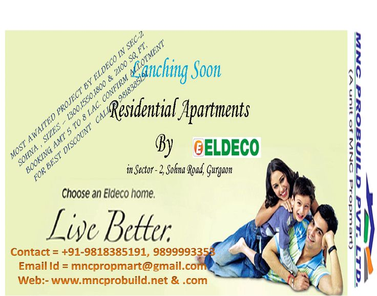 Eldeco Group is launching Eldeco New Project in Sohna Road. Eldeco Sohna will give lavish and stylish homes. Eldeco New Project Gurgaon gives calm life.