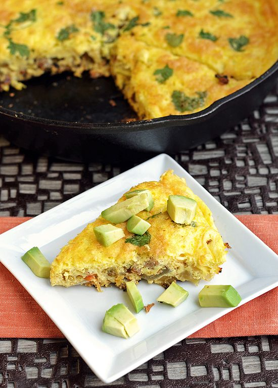 Chorizo and Green Chile Frittata - Plated with Style