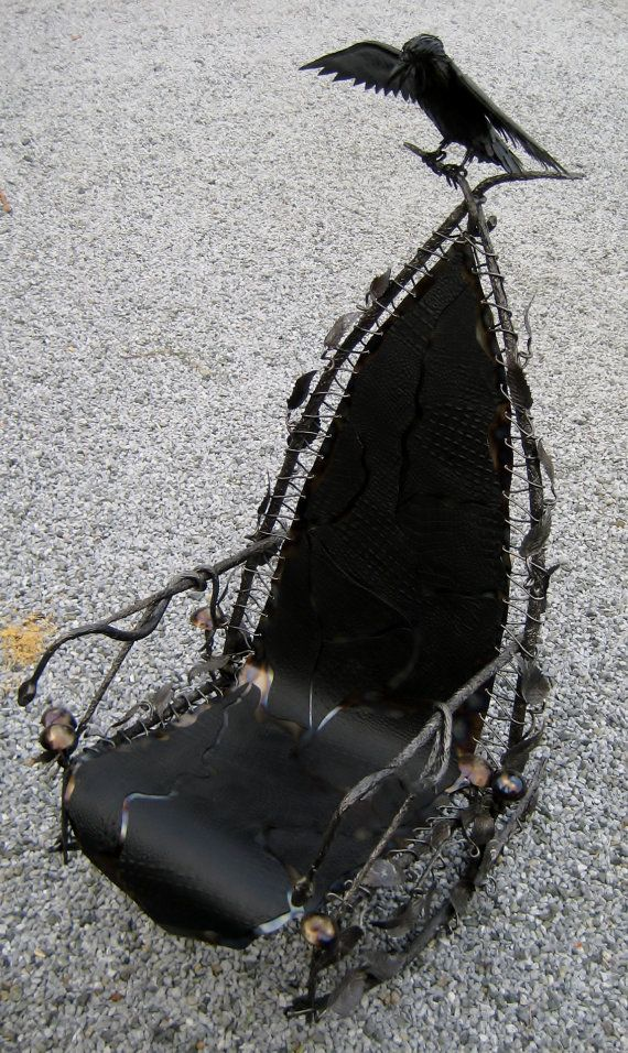Gothic Rocking Chair Hand Forged by by FoggyMountainForge on Etsy,
