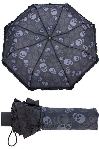 Skulls Compact Umbrella by Sourpuss | Gothic Gifts | Skulls