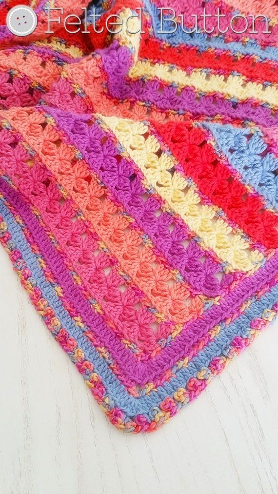 Rows of Posies Crochet Pattern by Susan Carlson of Felted Button. Very talent d d signer. I love all of her patterns!