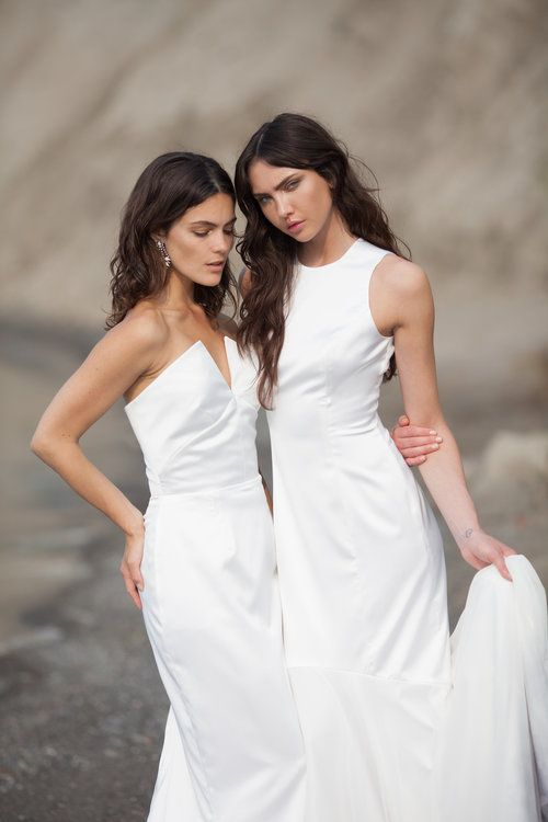 Minimalist bridal // & FOR LOVE The Celine and The Arwen