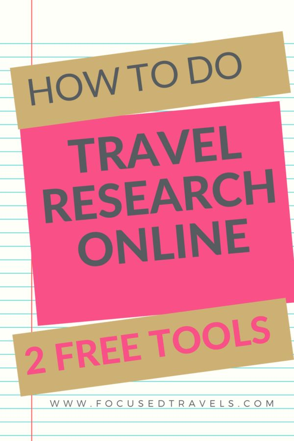 How do you do travel research online? Read this post to see which two free tools i use to do my travel research online on a daily basis.