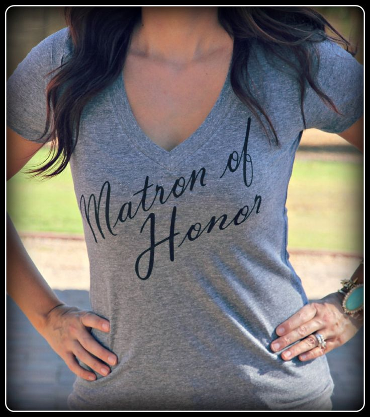 Matron of Honor shirt Bride shirt Wifey Shirt by TheStickerPlace, $16.99