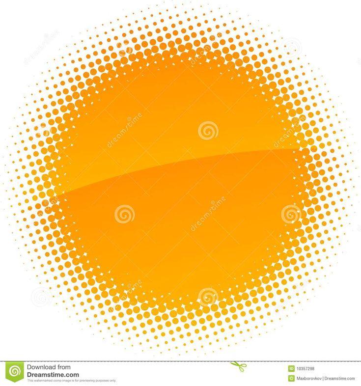 Halftone sun. stock vector. Image of retro, blank, empty - 10357298