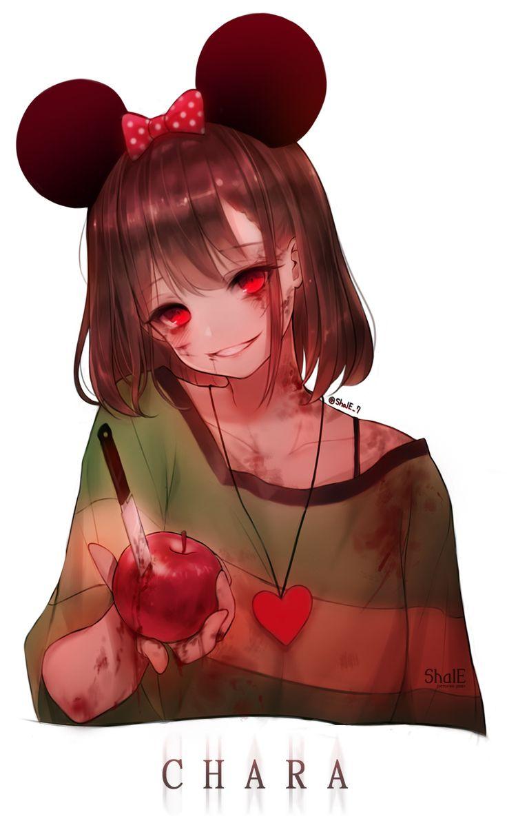 Pixiv Id 10705197, Undertale, Chara (Undertale), Apple, Blood On Face, Scratch