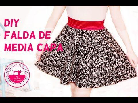 """El blog de """"Coser fácil y más by Menudo numerito"""" - Costura creativa: Cómo hacer una falda de media capa"""