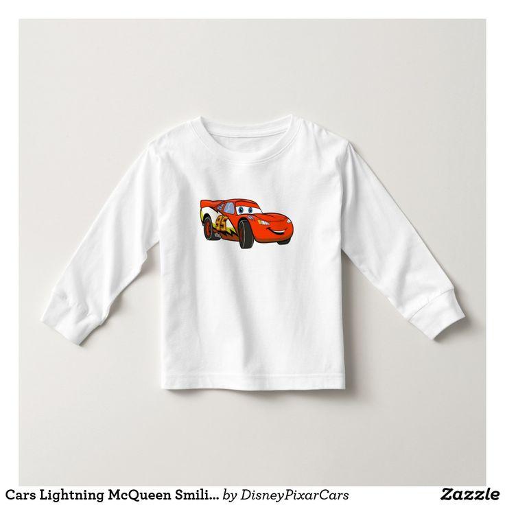 Cars Lightning McQueen Smiling Disney. Producto disponible en tienda Zazzle. Vestuario, moda. Product available in Zazzle store. Fashion wardrobe. Regalos, Gifts. Trendy tshirt. #camiseta #tshirt