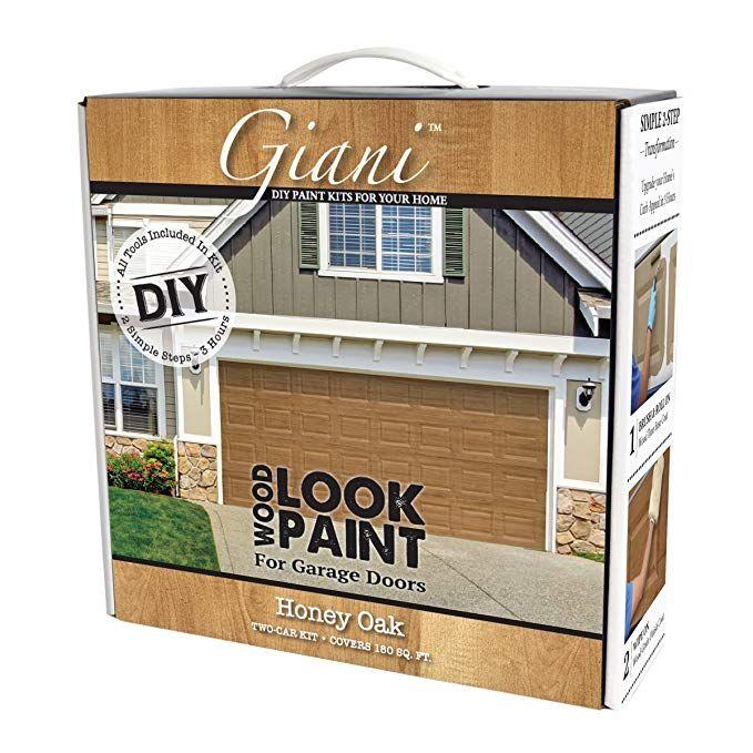 Giani Wood Look Garage Door Paint Kit 2 Car Black Walnut Amazon Com Garage Door Paint Wood Garage Doors Garage Decor