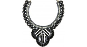 Derby Day - Black/White H/beaded necklace