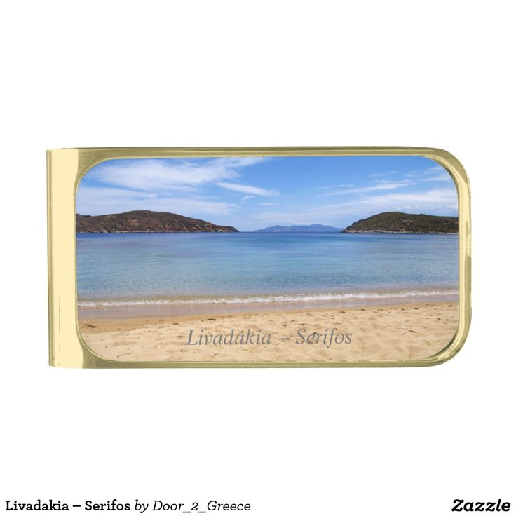 Livadakia – Serifos Gold Finish Money Clip
