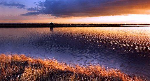 Le Saline di Cervia al tramonto. Saltworks in Cervia at sunset