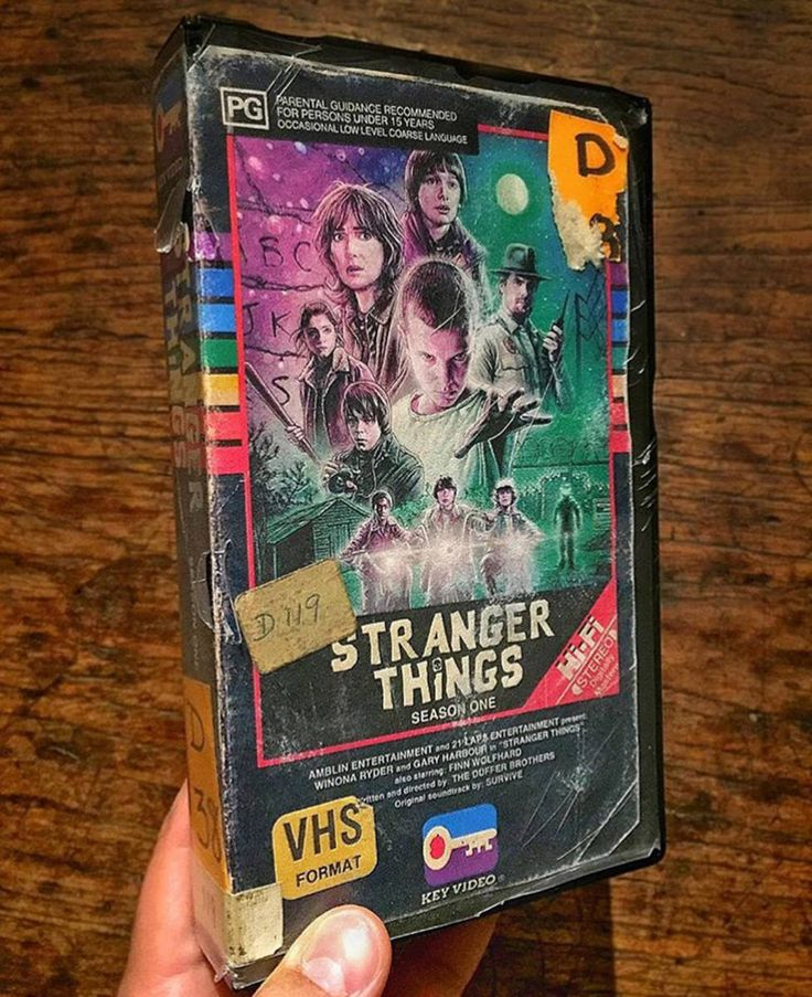 Stranger Things VHS Tape - just like it was found in a charity shop or forgotten cupboard, so perfect