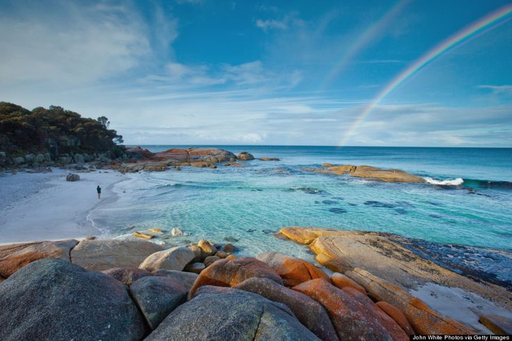 Beautiful beaches are a dime a dozen, but the Bay of Fires on Tasmania's East Coast is truly special.   #beach #bayoffires #tasmania #discovertasmania Image Credit: John White Photos