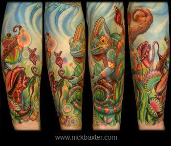 tatoos of jungle theme | Nick Baxter : Custom Tattoo Galleries - Original Artwork
