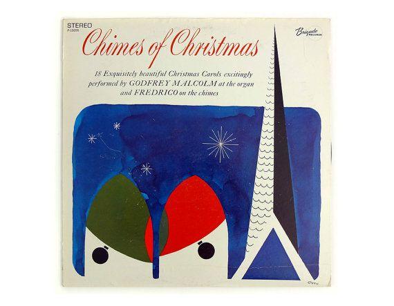 "Charles Murphy record album design, c.1960s. ""Chimes of Christmas"" LP"
