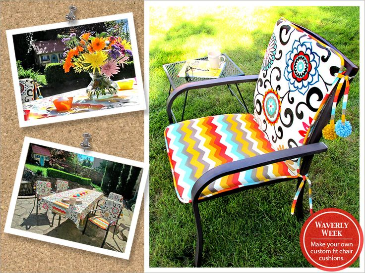 Charming Outdoor Chair Cushions With Festive Pom Pom Ties. Surprisingly Easy To  Make, You Can Custom Fit Cushions To Your Outdoor Chairs. Pick Your  Favorite Fabrics ...