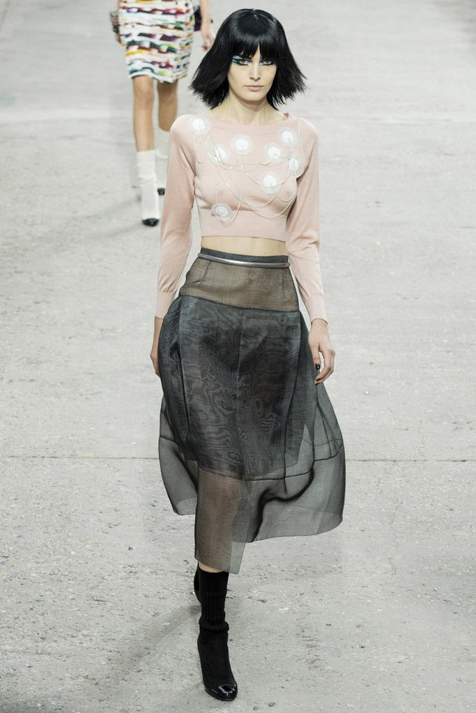 Chanel Spring 2014 , sheer & cropped.
