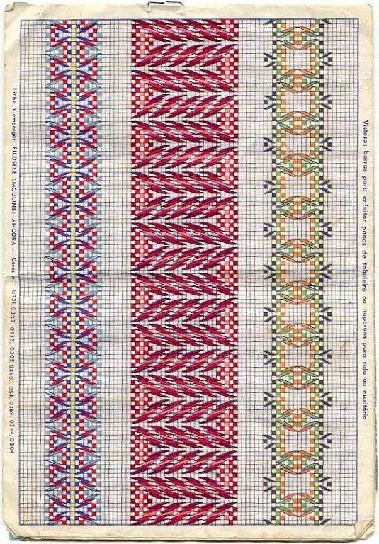 Bordado yugoslavo | Aprender manualidades es facilisimo.com On I really like the one in the middle here.