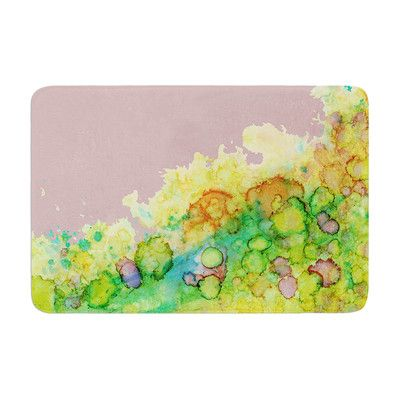 East Urban Home Sea Life by Rosie Brown Bath Mat Color: Green/Pink