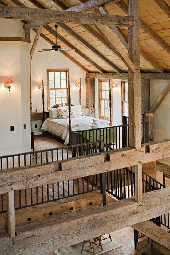 Stairs. Plus 36 Rustic Barns Bedroom Design Ideas sabanas con diseños bordados calidez de telas estampados mueblos con firuletes blancos