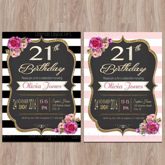 36 best 21st birthday images on pinterest unicorn invitations 21st birthday invitations 21 birthday invitations by damabdigital filmwisefo