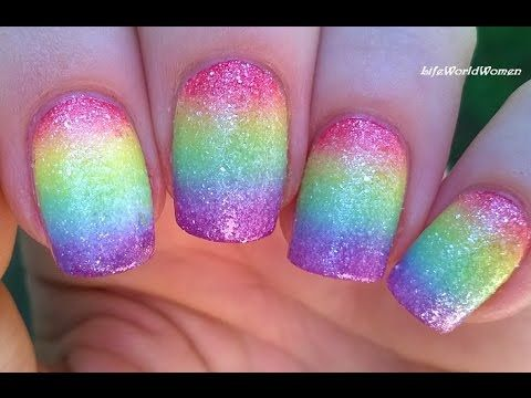 Best 25 sponge nail design ideas on pinterest diy nails rainbow nail art design with sugar effect in todays nail tutorial video i share a sponge nail design a colorul rainbow nail art prinsesfo Images