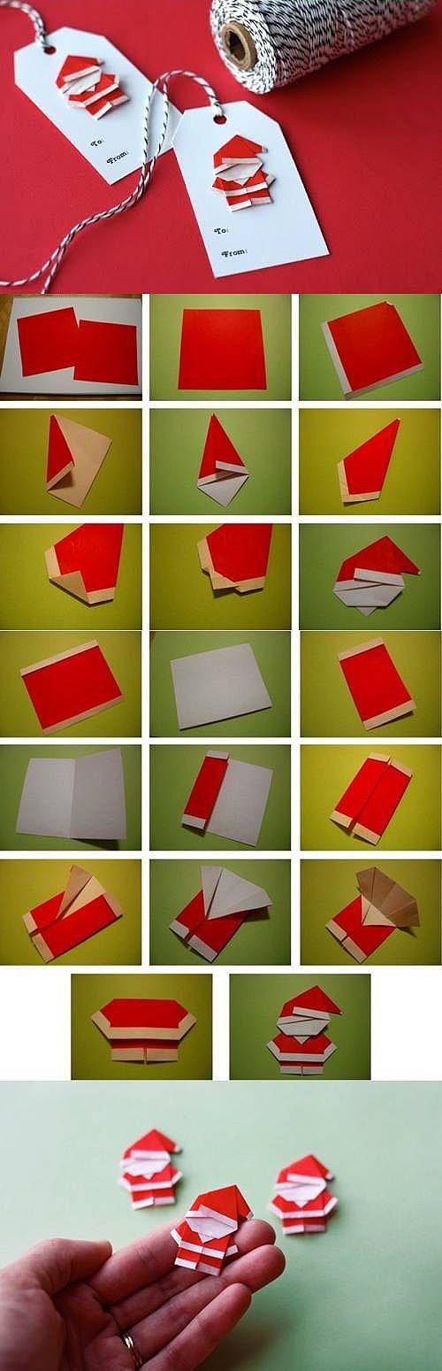可愛的耶誕老公公 摺紙 :: pinbox 拼盒子 - 親子手作 DIY