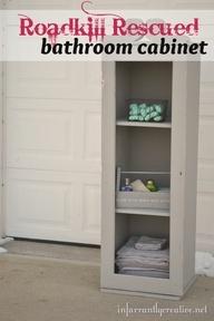 DIY Furniture   Painted Furniture   Roadkill Rescue bathroom cabinet