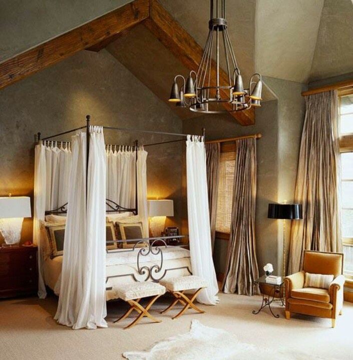 Love this idea for the master bedroom remy loves the canopy life and love pinterest Traditional rustic master bedroom