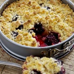 Apricot and Blackberry Crumble-Apricot and Blackberry Crumble