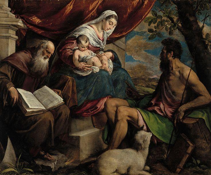 Bassano, Jacopo: Neitsyt Maria, Jeesus-lapsi, Johannes Kastaja ja Pyhä Antonius Apotti