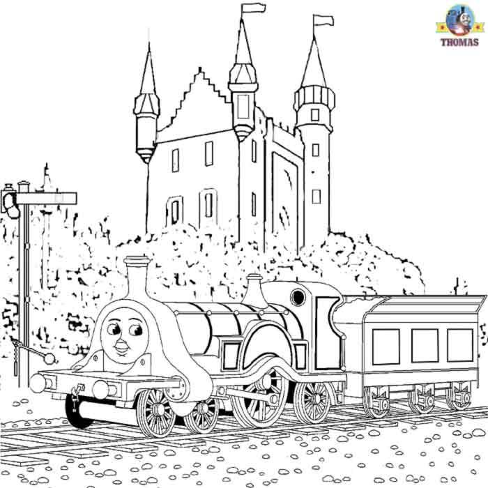 Free Online Thomas The Train Emily Tank Engine And Scottish Castle Coloring Pages For Kids Art