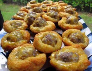 Easy Cheezy Sausage Biscuit Bites