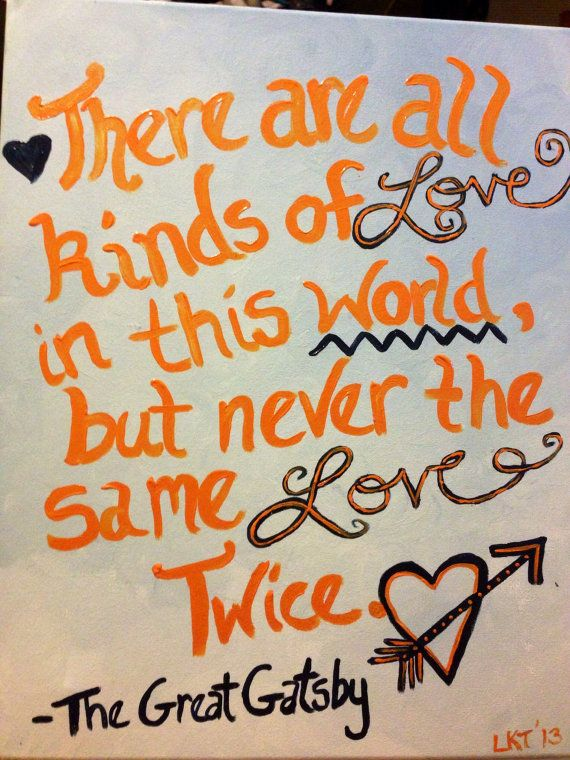 Canvas Quotes on Etsy, great gatsby quote  @Erika Bigbie