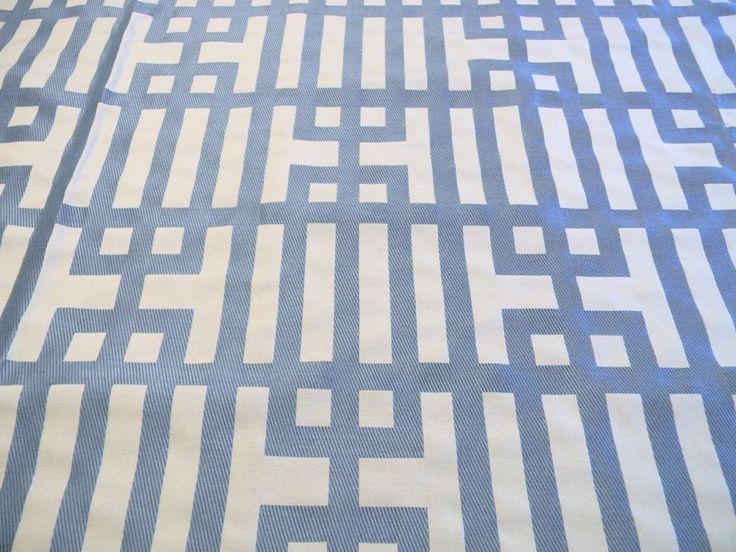 10 YARDS KRAVET COUTURE LEE JOFA MAIN FOCUS TRELLIS BLUE BEIGE FABRIC OUTLET  | eBay