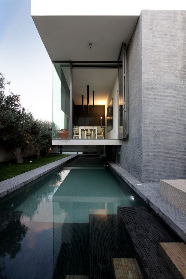 Cantilever Over Pool, Hanging Home in Naxxar, Malta by Chris Briffa Architects