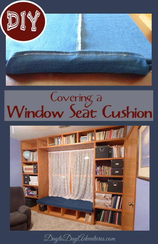 DIY Custom Cushion Cover for Window Seat - DaytoDayAdventures.com