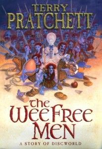 The Wee Free Men By Terry Pratchett Nine-year-old Tiffany Aching thinks her Granny Aching – a wise shepherd – might have been a witch, but now Granny Aching is dead and it's up to Tiffany to work it all out when strange things begin happening: a fairy-tale monster in the stream, a headless horseman and, strangest of all, the tiny blue men in kilts...
