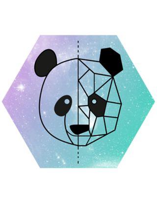Camiseta Panda geometrico do Studio Marcellaguerra por R$65,00