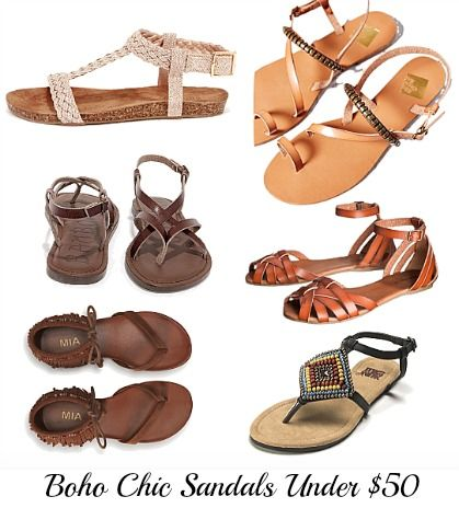 The Craving: Boho Chic Sandals Under $50