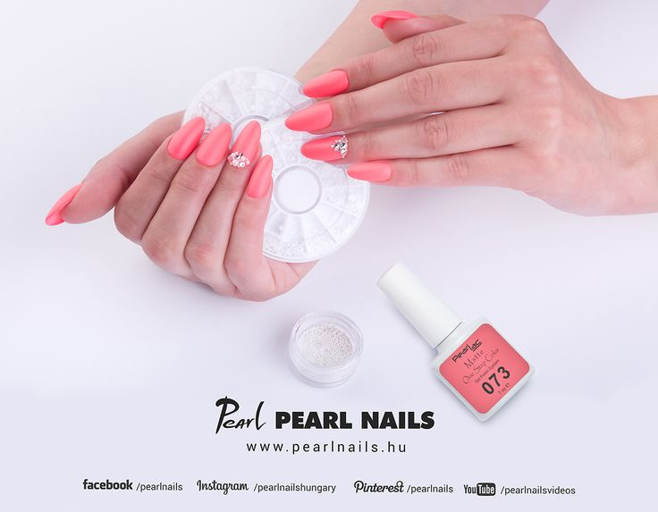 PearLac Matte One Step gél lakk + gyöngyök, díszíkövek =egyszerű és szép szalonkörmök. /PearLac Matte One Step gel lac + decorstones/pearls = simple and beauty salonnails. #pearlnails #nails #géllak #gelnails #gelpolish #gellac #salonnails #műköröm