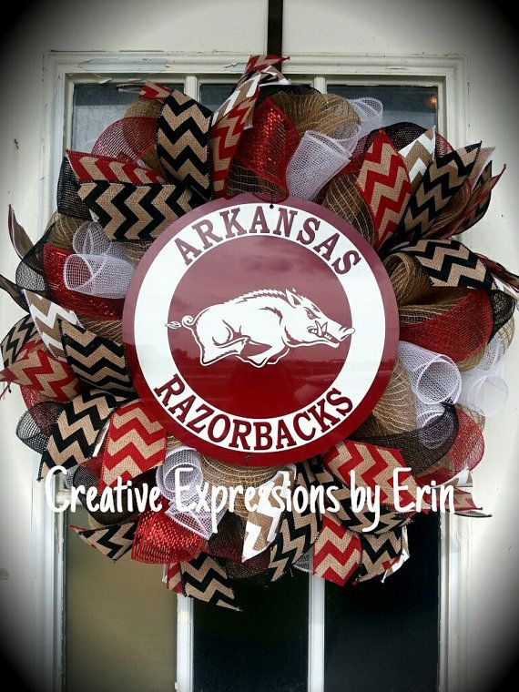 Arkansas Razorbacks Wreath - Razorbacks - Collegiate - Dorm decor - Door decor - Home decor - Alumni