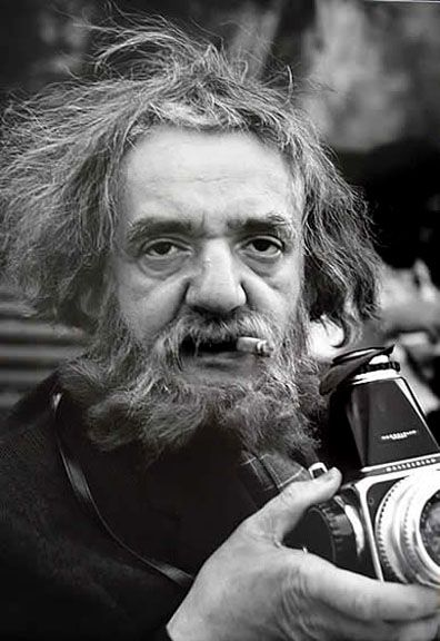 The photographer Weegee (Arthur Fellig, 1899 –1968), nd. Photo by Werner Eckelt.
