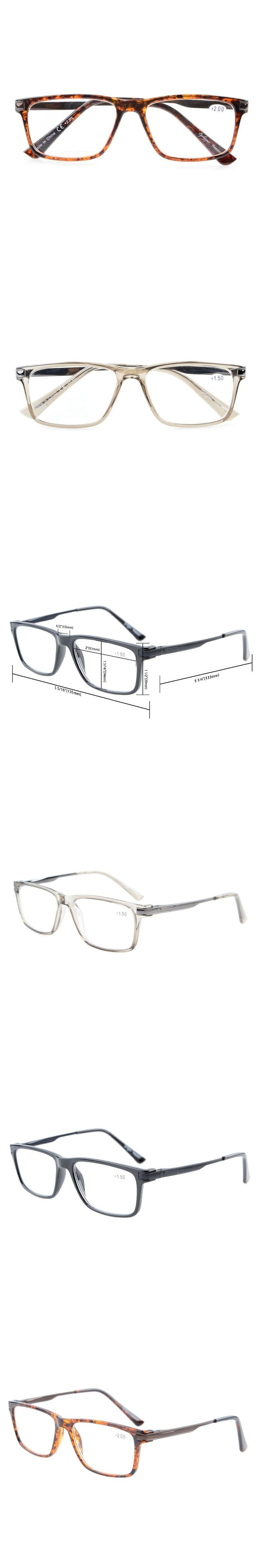 TR005 Eyekepper Quality TR90 Frame Spring Hinges Reading Glasses For Men Women Stylish Crystal Clear Vision +0.50----+3.00