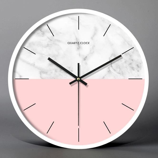 Minimalist Demi Pink Wall Clock Decor Living Room Maccorral Pink Wall Clocks Pink Wall Decor Clock Wall Decor